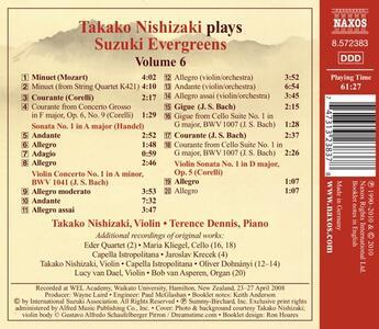 Suzuki Evergreens Vol.6 - CD Audio - 2