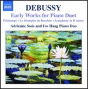 Brani giovanili per duo pianistico - CD Audio di Claude Debussy