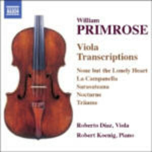 Trascrizioni per viola - CD Audio di William Primrose