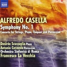Sinfonia n.1 - Concerto per archi, pianoforte, timpani e percussioni - CD Audio di Alfredo Casella