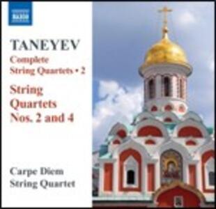 Quartetti per archi n.2, n.4 - CD Audio di Sergei Ivanovich Taneyev,Carpe Diem String Quartet