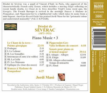 Opere per pianoforte vol.3 - CD Audio di Deodat de Severac - 2