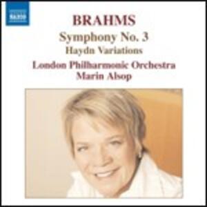 Sinfonia n.3 - Variazioni su un tema di Haydn - CD Audio di Johannes Brahms,London Philharmonic Orchestra,Marin Alsop