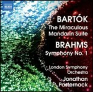Il mandarino meraviglioso / Sinfonia n.1 - CD Audio di Johannes Brahms,Bela Bartok,London Symphony Orchestra,Jonathan Pasternack
