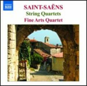 Quartetti per archi n.1, n.2 - CD Audio di Camille Saint-Saëns,Fine Arts Quartet