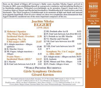 Sinfonie n.1, n.3 - CD Audio di Joachim Nikolas Eggert - 2