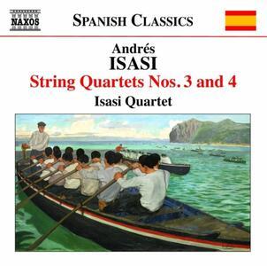Quartetti per archi vol.2 - CD Audio di Andrés Isasi
