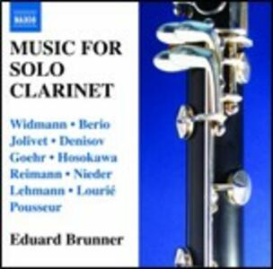 Musica per clarinetto solo - CD Audio di Eduard Brunner
