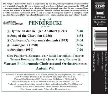 Canticum Canticorum Salomonis - Kosmogon - CD Audio di Krzysztof Penderecki - 2