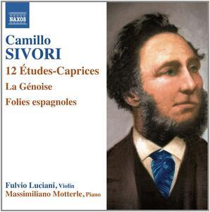Études-Caprices op.25 - La Génoise - Folies espagnoles op.29 - CD Audio di Camillo Sivori