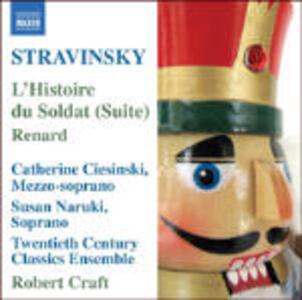 L'histoire du soldat - Renard - Pastorale - CD Audio di Igor Stravinsky,Robert Craft