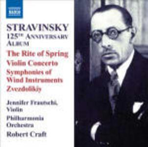 La sagra della primavera (Le Sacre du Printemps) - Concerto per violino - Sinfonia di strumenti a fiato - Zvezdolikiy - CD Audio di Igor Stravinsky,Philharmonia Orchestra,Robert Craft