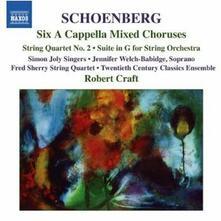6 Cori a cappella - 6 Canti popolari a cappella - Suite per archi - Quartetto n.2 - CD Audio di Arnold Schönberg,Robert Craft