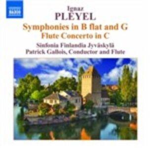 CD Sinfonia in Si bemolle - Sinfonia in Sol - Concerto per flauto di Ignace Pleyel