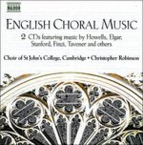 English Choral Music - CD Audio di Christopher Robinson