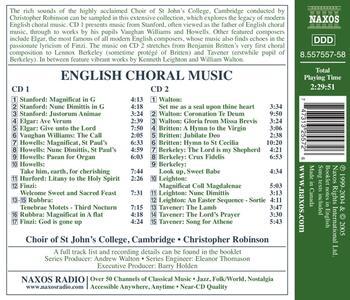 English Choral Music - CD Audio di Christopher Robinson - 2