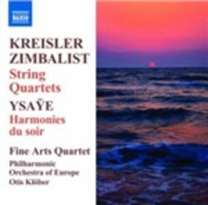 Quartetti per archi - CD Audio di Fritz Kreisler,Fine Arts Quartet