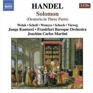 Solomon - CD Audio di Georg Friedrich Händel,Joachim Carlos Martini