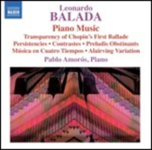 Musica per pianoforte - CD Audio di Leonardo Balada