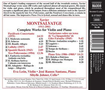 Opere per violino e pianoforte - CD Audio di Xavier Montsalvadtge - 2