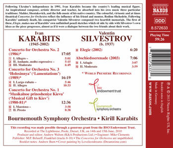 Concerti per Orchestra n.1 - Omaggio Musicale a Kiev n.2, n.3 - Lamentazioni - CD Audio di Ivan Karabits - 2