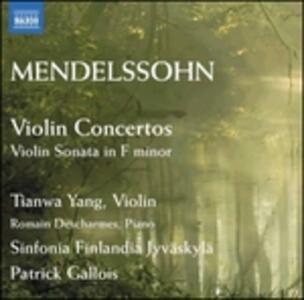 Violin Concertos - CD Audio di Felix Mendelssohn-Bartholdy
