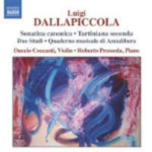 Opere complete per violino e pianoforte - CD Audio di Luigi Dallapiccola