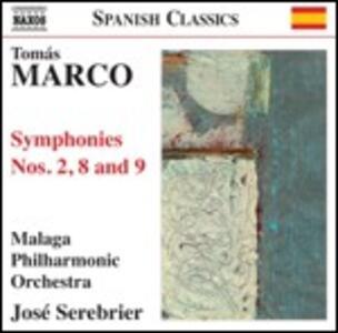 Sinfonie n.2, n.8, n.9 - CD Audio di José Serebrier,Malaga Philharmonic Orchestra,Tomas Marco
