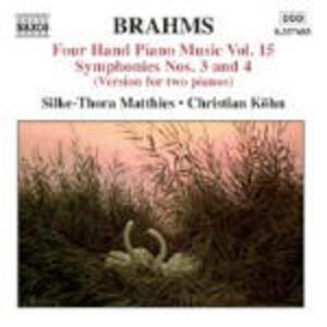 Opere per pianoforte a 4 mani vol.15 - CD Audio di Johannes Brahms