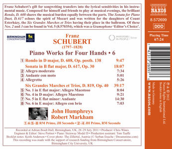 Piano Works for Four Hand - CD Audio di Franz Schubert - 2
