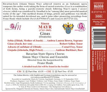 Gioas - CD Audio di Johann Simon Mayr - 2