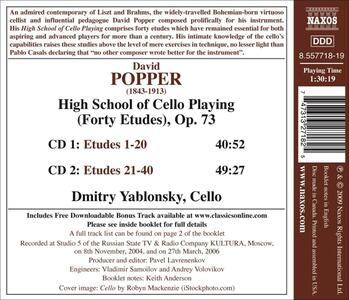 High School of Cello Playing - CD Audio di Dmitri Yablonsky,David Popper - 2