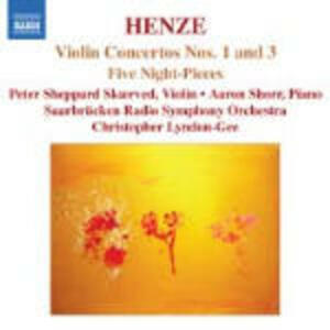 Concerti per violino n.1, n.3, n.5 - Night-Pieces - CD Audio di Hans Werner Henze,David Lloyd-Jones
