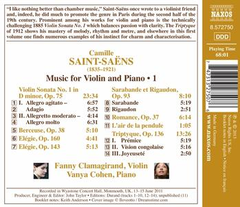 Opere per violino e pianoforte vol.1 - CD Audio di Camille Saint-Saëns - 2