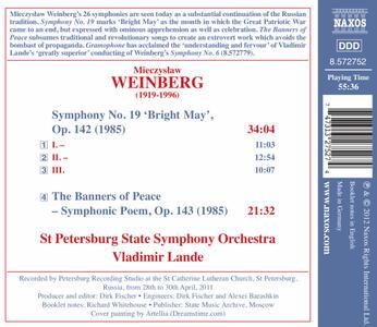 Sinfonia n.19, Radioso Maggio Op.142, I Vessilli Della Pace Op.143 - CD Audio di Mieczyslaw Weinberg - 2
