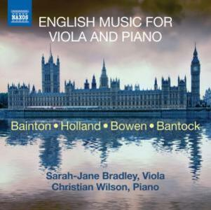 Musica inglese per viola e pianoforte - CD Audio di Sarah-Jane Bradley