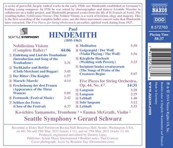 Nobilissima visione - CD Audio di Paul Hindemith,Gerard Schwarz - 2