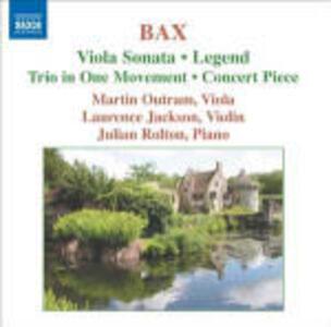 Sonata per viola - Concert Piece - Legend - CD Audio di Arnold Trevor Bax