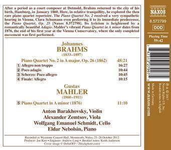 Quartetto con pianoforte e archi n.2 op.26 - CD Audio di Johannes Brahms,Eldar Nebolsin - 2