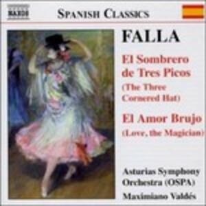Il cappello a tre punte (El sombrero de tres picos) - El amor brujo - CD Audio di Manuel De Falla