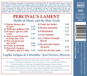 Percival's Lament - La Musica Medievale e Il Sacro Graal - CD Audio di José Ferrero - 2