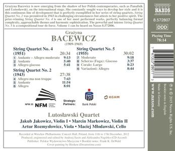 Integrale dei quartetti per archi - CD Audio di Grazyna Bacewicz - 2