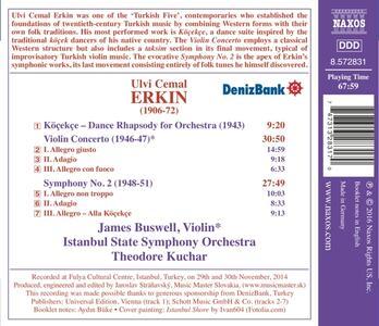 Concerto per violino - Sinfonia n.2 - Köçekçe - CD Audio di Ulvi Cemal Erkin - 2