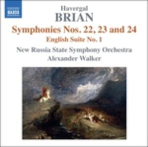 """Sinfonia n.22 """"sinfonia Brevis"""", Sinfonia n.23, Sinfonia n.24 in Re Maggiore - CD Audio di Havergal Brian"""