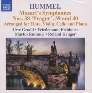 Sinfonie n.38, n.39, n.40 di Mozart - CD Audio di Johann Nepomuk Hummel