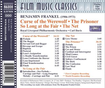 Curse of the Werewolf, the Prisoner, Solong at the Fair Medley, the Net (Colonna Sonora) - CD Audio di Carl Davis,Benjamin Frankel - 2