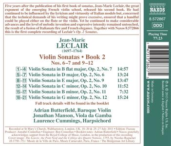 Sonate per violino e basso continuo - CD Audio di Jean-Marie Leclair - 2
