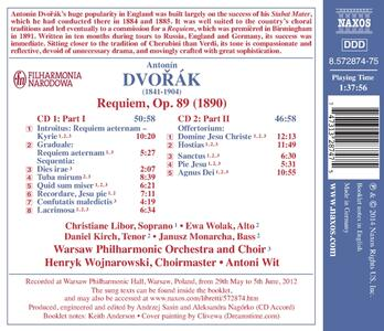 Requiem - CD Audio di Antonin Dvorak,Antoni Wit - 2