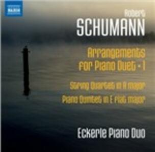 Trascrizioni per pianoforte a 4 mani - CD Audio di Robert Schumann
