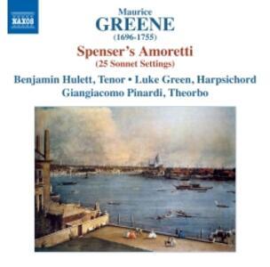 Spenser's Amoretti - CD Audio di Benjamin Hulett,Maurice Greene